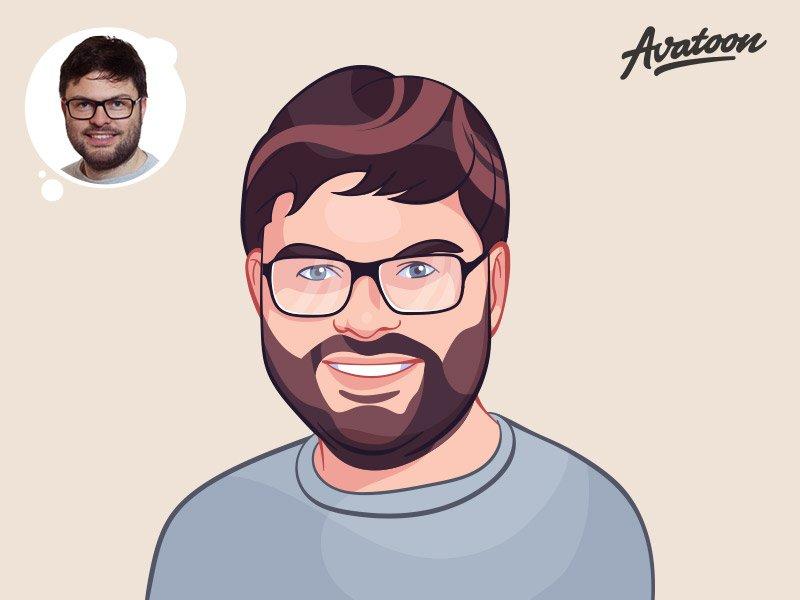 Cartoon avatar character man