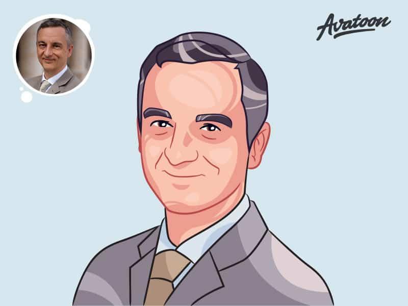 Custom avatar of a business man