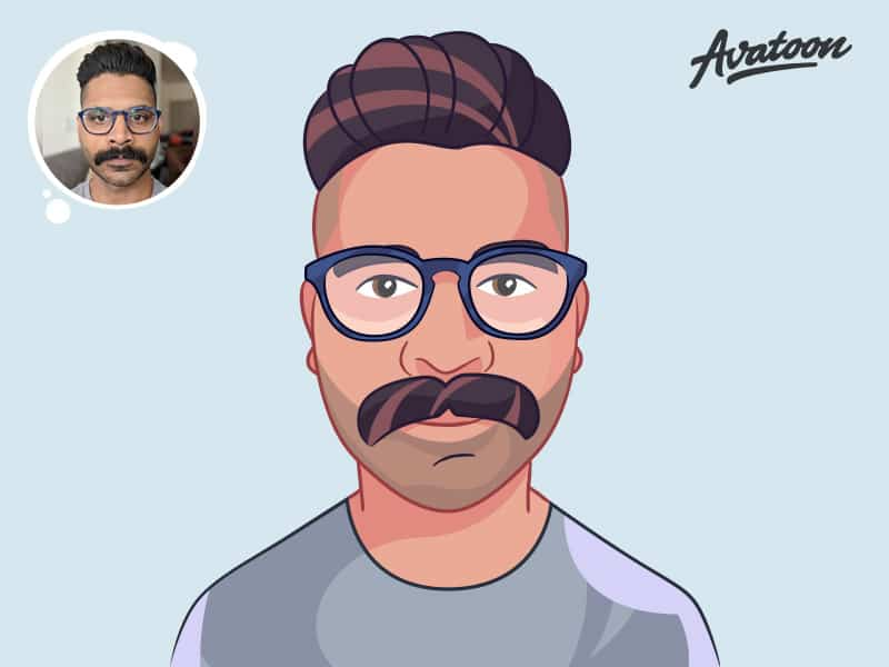 Draw cartoon portrait or vector avatar of you