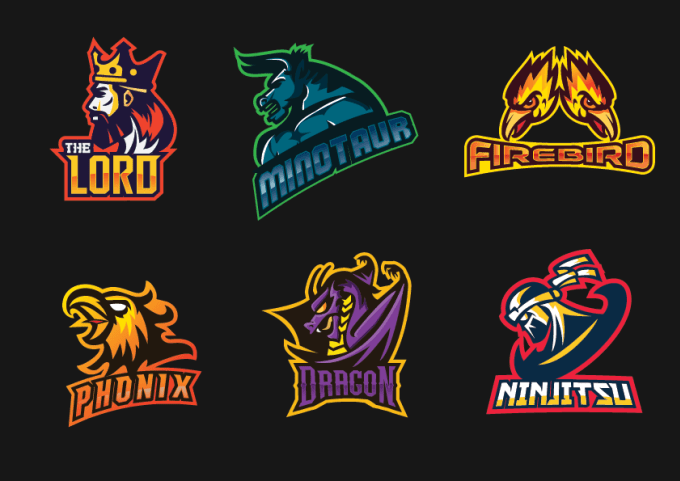 Gamer team logo collection