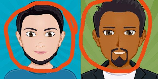 Low quality cartoon avatar