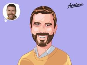 Vector art portrait cartoon yourself