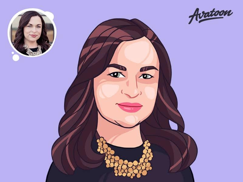 Woman face cartoon avatar