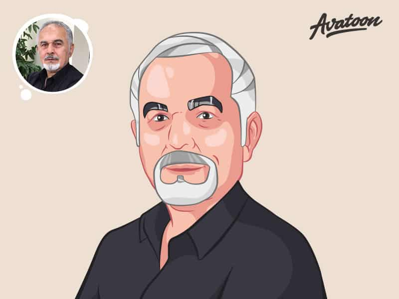 Old man avatar illustration
