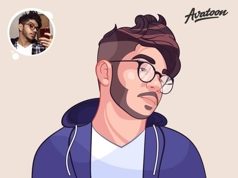 Social Media Cartoon Avatar