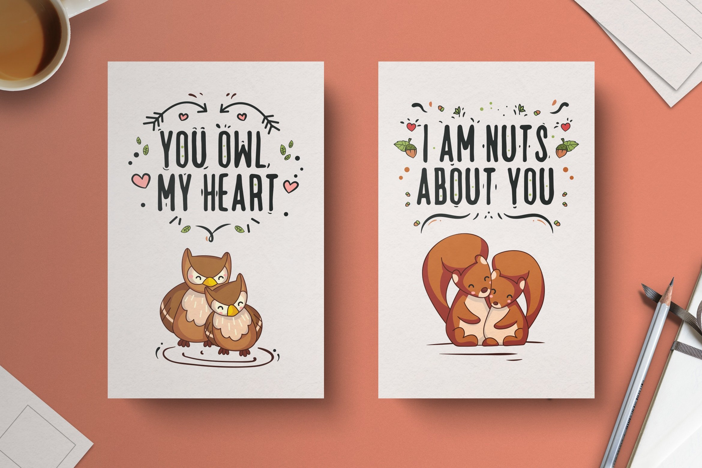 Animal Couple Valentines Day Template