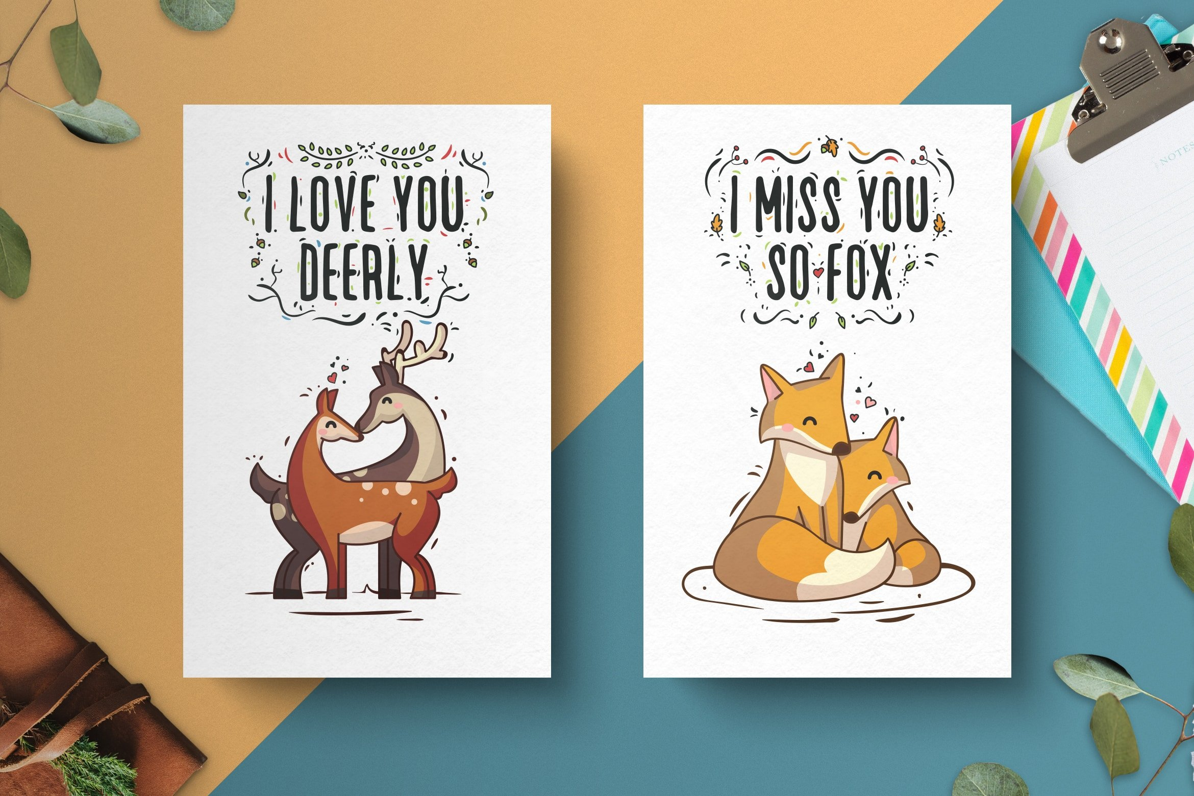Valentine's Day Hand Drawn Card Collection