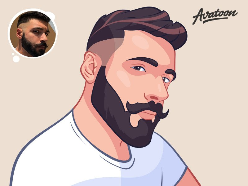 Mustache Man Cartoon Avatar