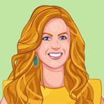 custom digital portrait of a blonde woman