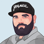 custom digital portrait of a beard man