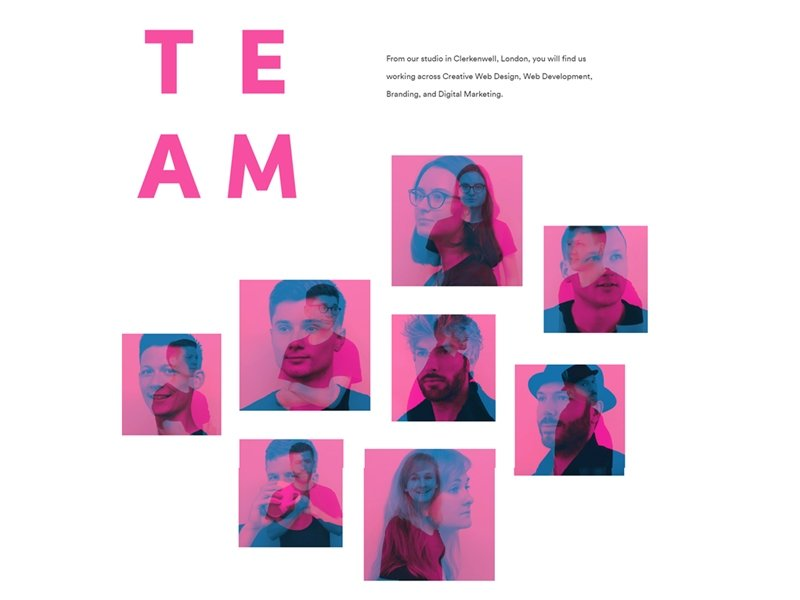 Double Exposure Meet The Team Page
