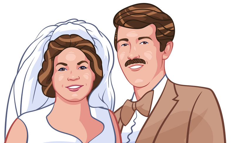 best ideas for cartoon wedding couple pictures