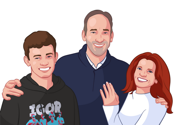turn your family portrait into a cartoon