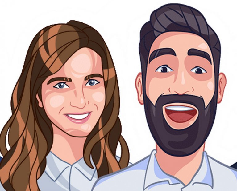 cartoon couple drawing as a gift