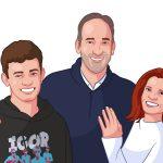custom family portrait as a gift